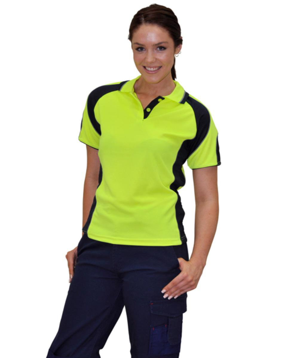 Lady's Hi-Vis Cooldry Contrast Polo with Sleeve Panels, From $13.1
