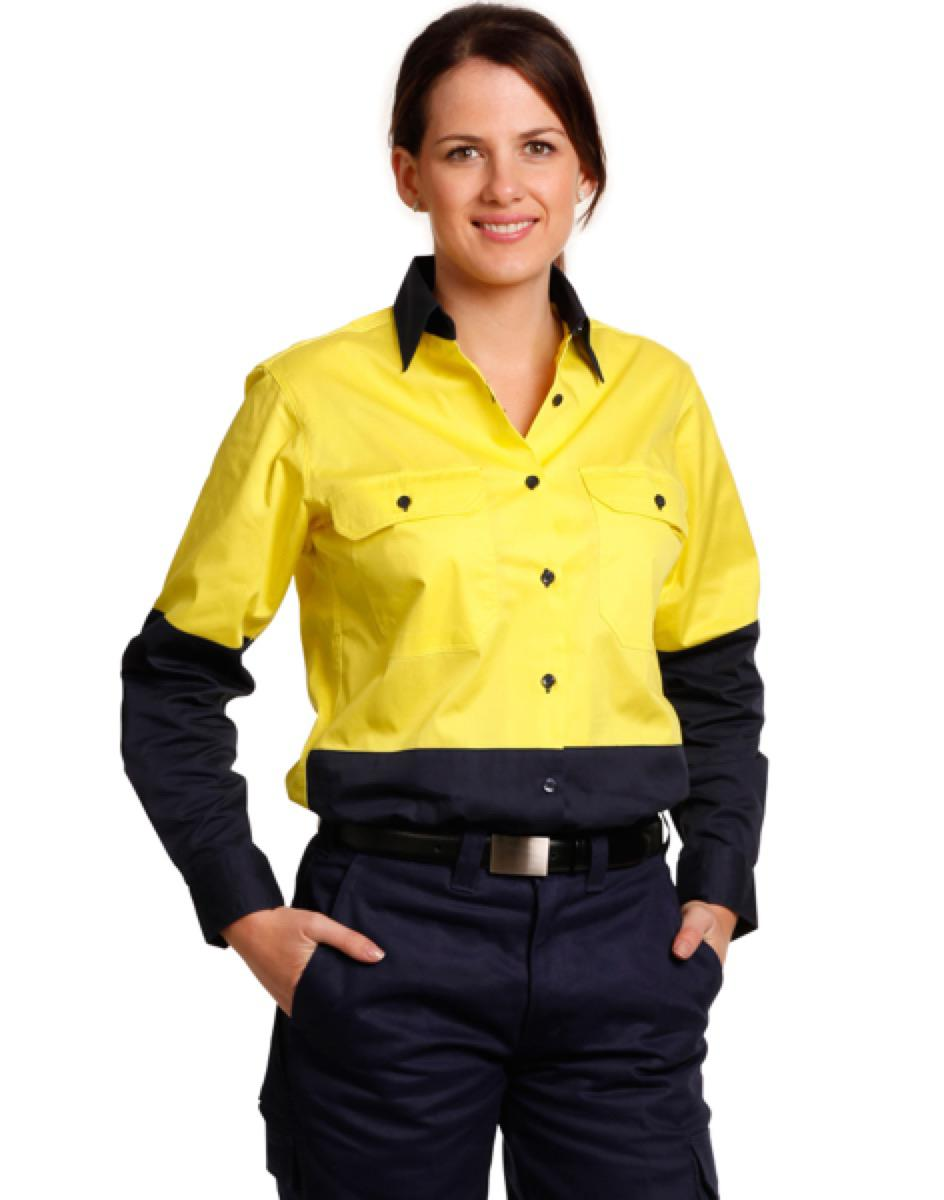 Ladies' Hi-Vis L/S Safety Shirt, From $22.2