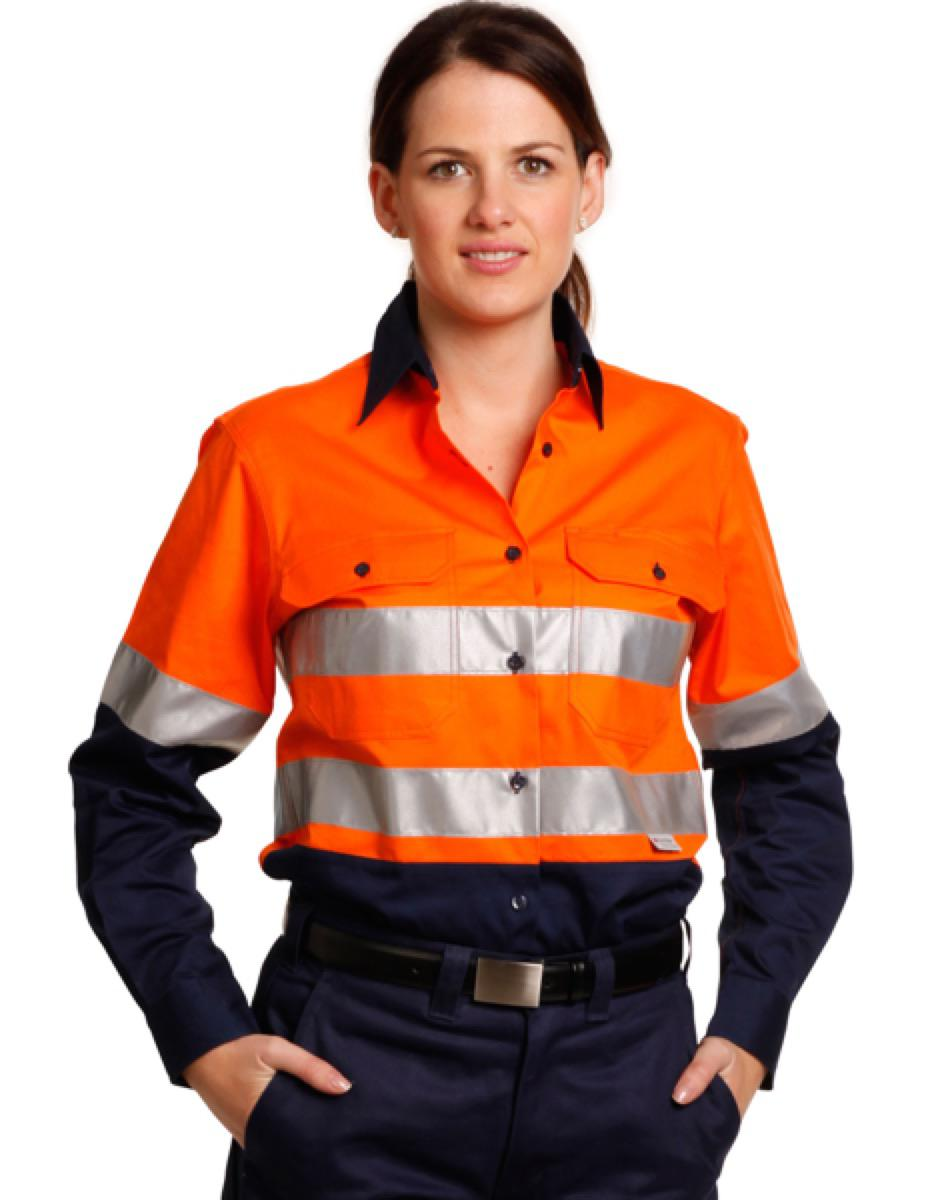 Ladies' Hi-Vis L/S Safety Shirt 3M Tape, From $33.9