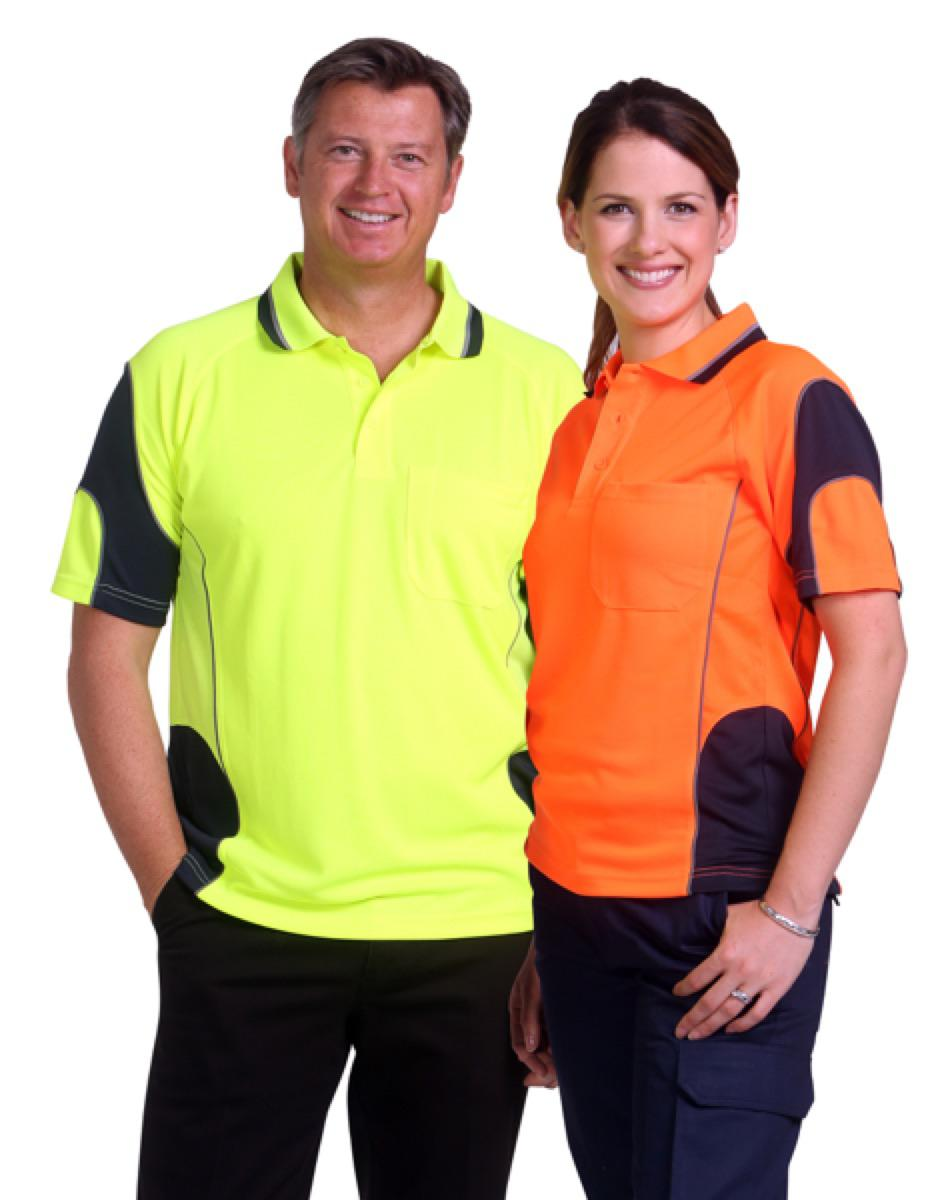 Cooldry Hi-Vis Mini Waffle Safety Polo, From $14.4