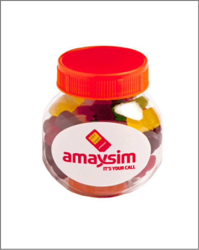 Jar Plastic – 135G Coloured Lid