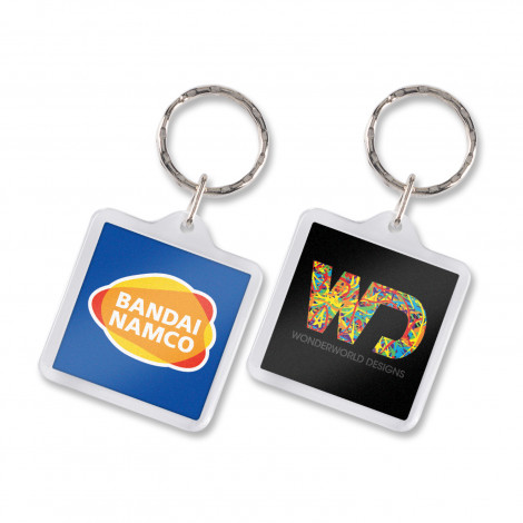 Lens Key Ring - Square  - Full Colour Insert