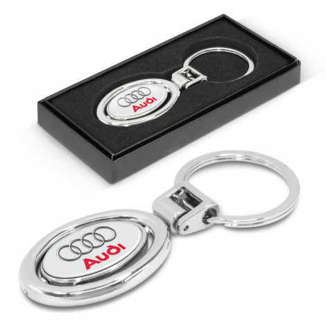 Spinning Metal Key Ring - Resin Coated Finish (both sides)