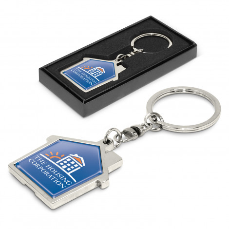House Metal Key Ring - Engraving Per Position