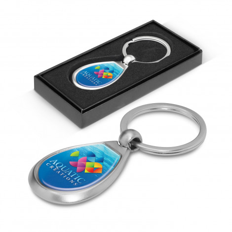 Drop Metal Key Ring - Resin Coated Finish