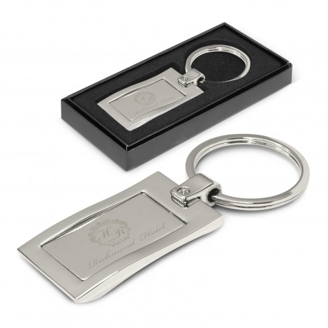 Wave Metal Key Ring - Engraving Per Position