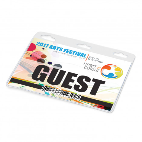 Clear Vinyl ID Holder - Digital Print on Insert Card (Per Side)