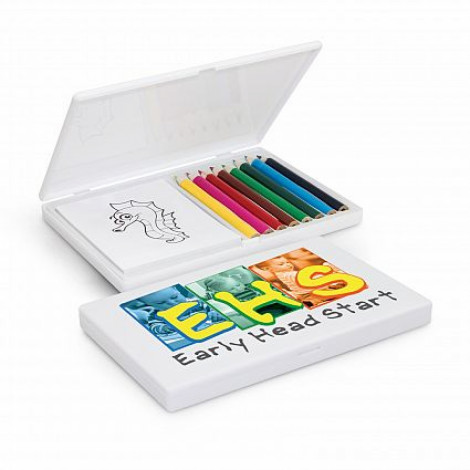 Playtime Colouring Set - Pad Print