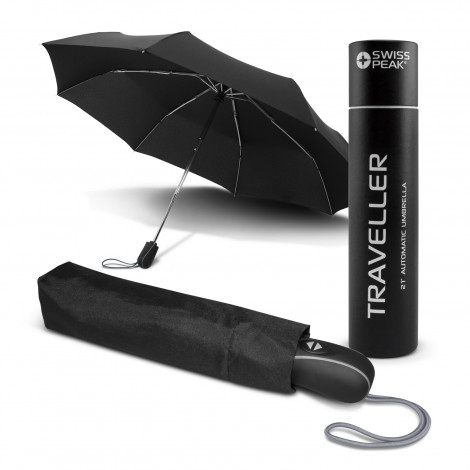 Swiss Peak Traveller Umbrella - Screen Printing Per Panel