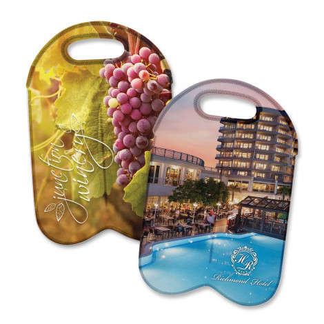 Neoprene Double Wine Cooler Bag - Full Colour - Full Colour Print