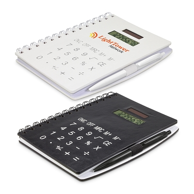 Notebook with Calculator - Pad Print, From $7.46