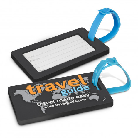 PVC Luggage Tag -  Moulded up to 4 colours