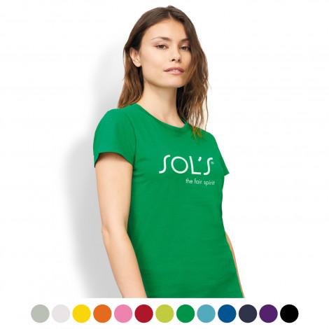 SOLS Imperial Womens T-Shirt - Printing Per Colour/Position
