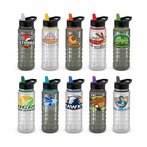 Triton Elite Drink Bottle - Clear and Black - Pad Print, From $5.49