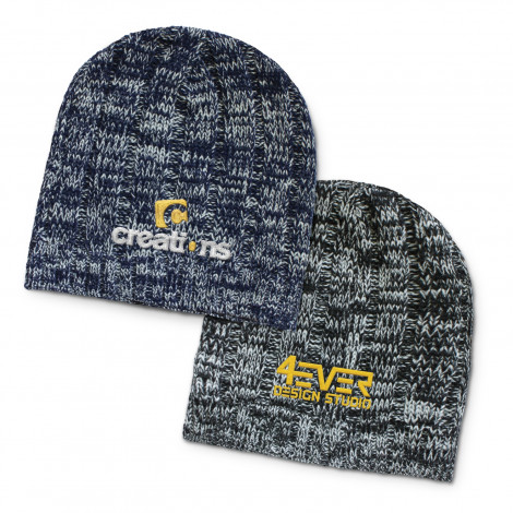 Fresno Heather Knit Beanie - Embroidery per position (up to 10,000 stitches)