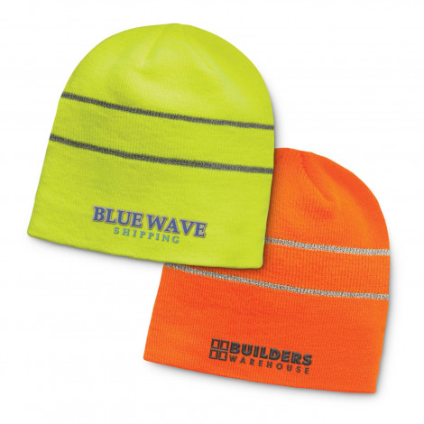 Commando Hi-Vis Beanie - Embroidery per position (up to 10,000 stitches)