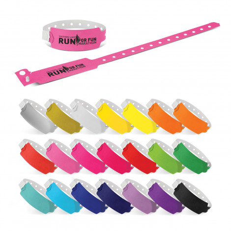 Plastic Event Wrist Band - One Colour Print
