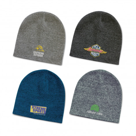 Commando Heather Knit Beanie - Embroidery per position (up to 10,000 stitches)
