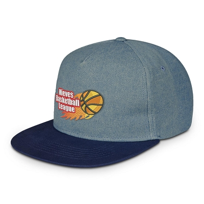 Shades Of Blue Denim Cap - Screen Print, From $10.3