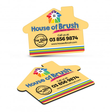 Fridge Magnet 70 x 50mm - House Shape - Digital Print