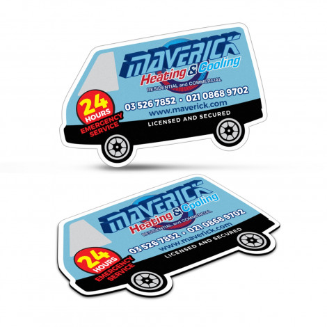 Fridge Magnet 90 x 55mm - Van Shape - Digital Print
