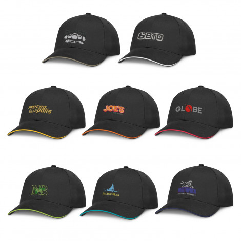 Swift Premium Cap - Black - Embroidery, From $7.26