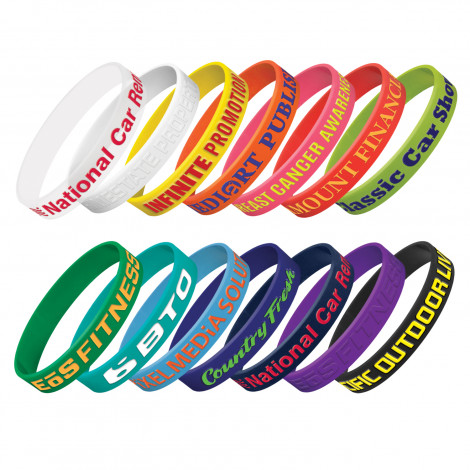 Silicone Wrist Band - Embossed - Embossing