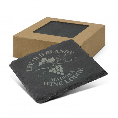 Slate Coaster Set of 4 -  Laser Engraving (per set)