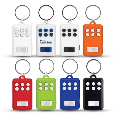 Fun Key Ring With Light - Printing 1 Colour