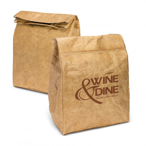 Kraft Cooler Lunch Bag - One Colour Print