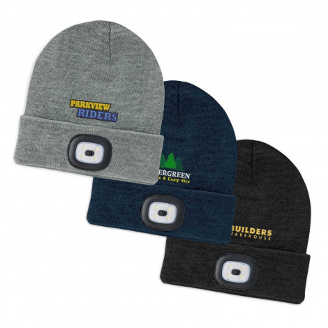 Headlamp Beanie - Embroidery per position (up to 10,000 stitches)