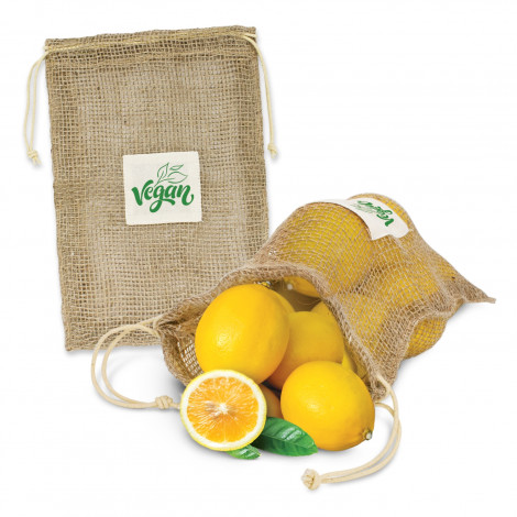 Jute Net Produce Bag - Screen Print