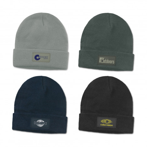 Everest Beanie with Patch - One Colour Print
