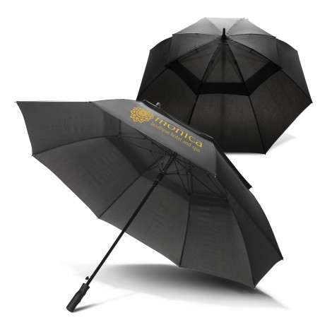 Swiss Peak Tornado 76cm Storm Umbrella - Screen Printing Per Panel (one colour)