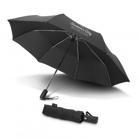 Swiss Peak Foldable Umbrella - Screen Printing Per Panel (one colour)