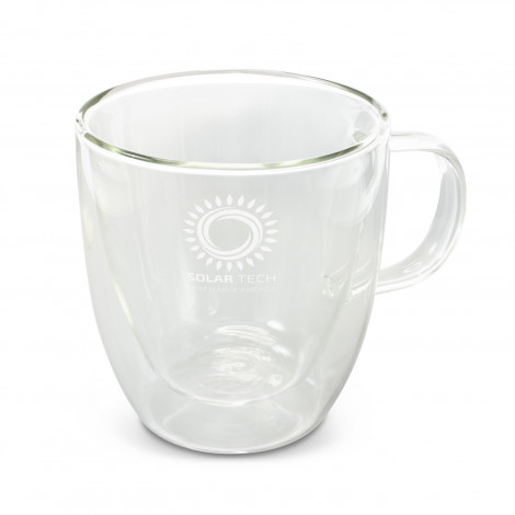 Riviera Double Wall Glass Cup - Pad Print