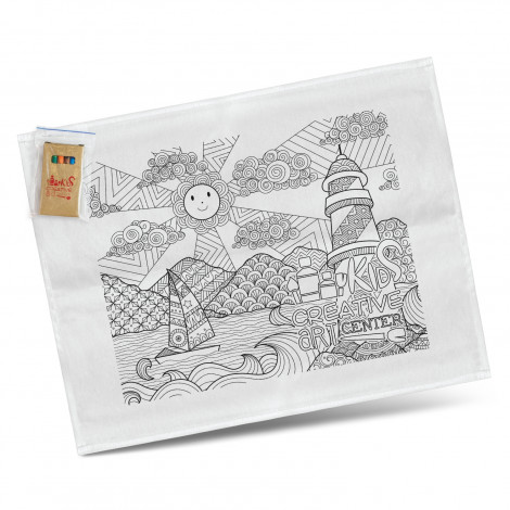 Cotton Colouring Tea Towel - Printing Per Colour (Tea Towel)