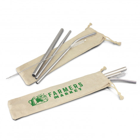 Stainless Steel Straw Set - Printing Per Position