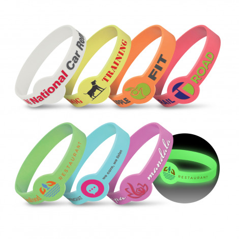 Xtra Silicone Wrist Band - Glow in the Dark - Printing Per Colour