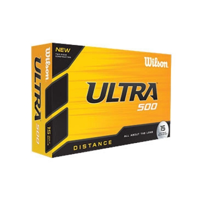 Wilson Ultra 500 Golf Ball Ultimate Distance - Includes a 1 colour printed logo