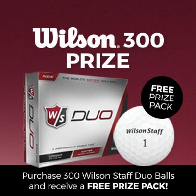 Wilson Staff Duo Golf Ball 300 Prize Promo - Includes a 1 colour printed logo