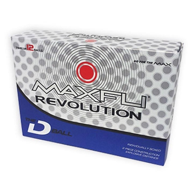 Maxfli Revolution D - 1 Golf Ball - Includes a 1 colour printed logo