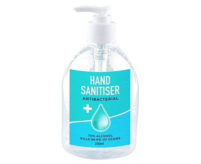 250ml Hand Sanitiser Pump Bottle