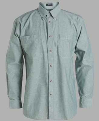 JB'S Long Sleeve COTTON CHAMBRAY SHIRT