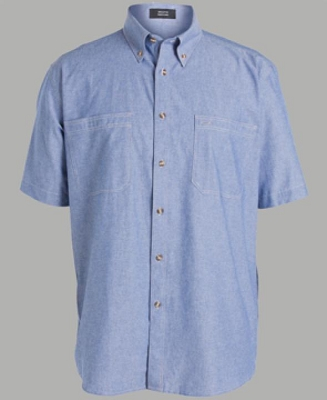 JB'S Short Sleeve COTTON CHAMBRAY SHIRT