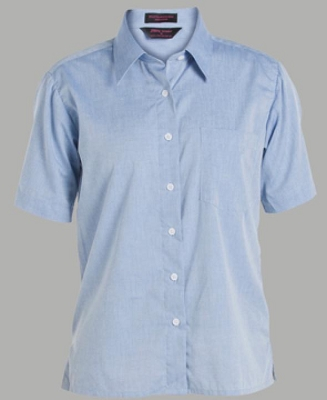 JB'S LADIES Short Sleeve FINE CHAMBRAY SHIRT
