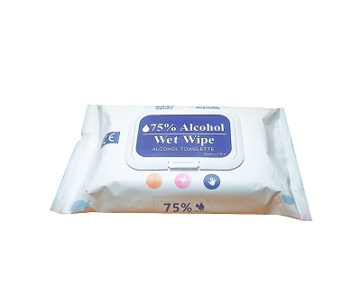 Hand Wipes 50 Pack 75% Alcohol - (Unbranded)