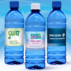 Spring Water 600ml with Full Colour Custom Label