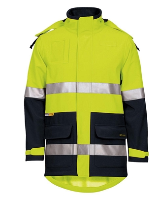 JB'S HI VIS (D+N) SOFT SHELL INDUSTRY JACKET