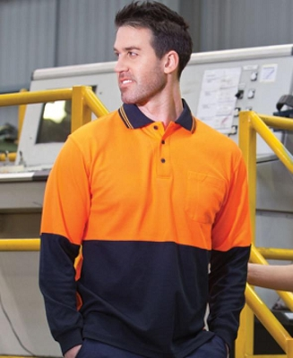 JB'S HI VIS Long Sleeve COTTON BACK POLO, From 18.38